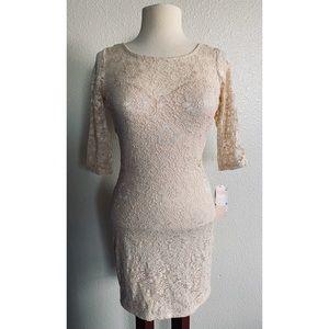 Gianni bindi lace dress